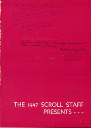 Page 5, 1947 Edition, Herbert Hoover High School - Scroll Yearbook (Glendale, CA) online yearbook collection