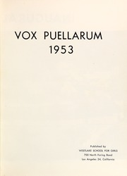 Page 5, 1953 Edition, Westlake School for Girls - Vox Puellarum Yearbook (Los Angeles, CA) online yearbook collection