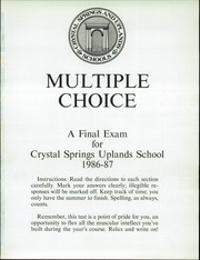 Page 5, 1987 Edition, Crystal Springs Uplands High School - Yearbook (Hillsborough, CA) online yearbook collection
