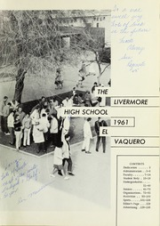 Page 5, 1961 Edition, Livermore High School - El Vaquero Yearbook (Livermore, CA) online yearbook collection
