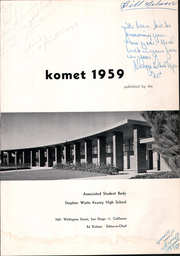 Page 5, 1959 Edition, Kearny High School - Komet Yearbook (San Diego, CA) online yearbook collection