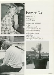 Page 7, 1974 Edition, Kearny High School - Komet Yearbook (San Diego, CA) online yearbook collection