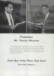 Page 5, 1959 Edition, Santa Ynez Valley Union High School - Pirate Revue Yearbook (Santa Ynez, CA) online yearbook collection