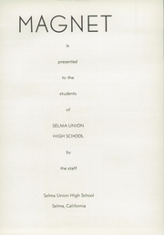Page 9, 1937 Edition, Selma Union High School - Magnet Yearbook (Selma, CA) online yearbook collection