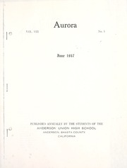 Page 7, 1917 Edition, Anderson Union High School - Aurora Yearbook (Anderson, CA) online yearbook collection