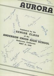 Page 5, 1940 Edition, Anderson Union High School - Aurora Yearbook (Anderson, CA) online yearbook collection