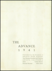 Page 5, 1941 Edition, Arcata High School - Advance Yearbook (Arcata, CA) online yearbook collection