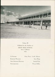 Page 5, 1952 Edition, Arvin High School - Praeterita Yearbook (Arvin, CA) online yearbook collection