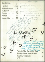 Page 5, 1955 Edition, Brawley High School - La Ocotilla Yearbook (Brawley, CA) online yearbook collection