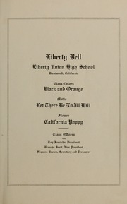 Page 5, 1915 Edition, Liberty High School - Lion Yearbook (Brentwood, CA) online yearbook collection