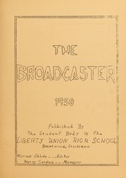 Page 5, 1930 Edition, Liberty High School - Lion Yearbook (Brentwood, CA) online yearbook collection