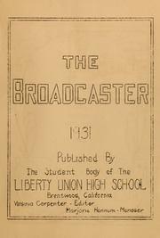 Page 5, 1931 Edition, Liberty High School - Lion Yearbook (Brentwood, CA) online yearbook collection