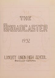 Page 5, 1932 Edition, Liberty High School - Lion Yearbook (Brentwood, CA) online yearbook collection