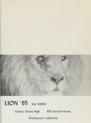 Page 5, 1965 Edition, Liberty High School - Lion Yearbook (Brentwood, CA) online yearbook collection