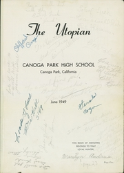 Page 5, 1949 Edition, Canoga Park High School - Utopian Yearbook (Canoga Park, CA) online yearbook collection