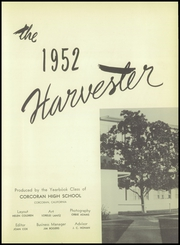 Page 7, 1952 Edition, Corcoran High School - Harvester Yearbook (Corcoran, CA) online yearbook collection