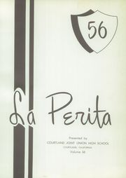Page 5, 1956 Edition, Courtland Union High School - La Perita Yearbook (Courtland, CA) online yearbook collection