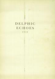 Page 5, 1932 Edition, Dinuba High School - Delphic Echoes Yearbook (Dinuba, CA) online yearbook collection