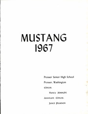 Page 5, 1967 Edition, Prosser High School - Mustang Yearbook (Prosser, WA) online yearbook collection