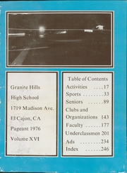 Page 5, 1976 Edition, Granite Hills High School - Pageant Yearbook (El Cajon, CA) online yearbook collection
