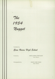 Page 5, 1954 Edition, Etna Union High School - Nugget Yearbook (Etna, CA) online yearbook collection
