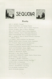 Page 13, 1921 Edition, Eureka High School - Sequoia Yearbook (Eureka, CA) online yearbook collection
