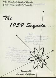 Page 5, 1959 Edition, Eureka High School - Sequoia Yearbook (Eureka, CA) online yearbook collection