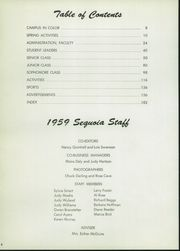 Page 8, 1959 Edition, Eureka High School - Sequoia Yearbook (Eureka, CA) online yearbook collection