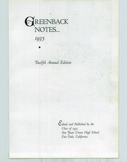Page 7, 1935 Edition, San Juan Union High School - Greenback Notes Yearbook (Fair Oaks, CA) online yearbook collection