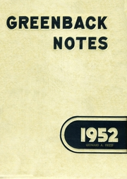 1952 Edition, San Juan Union High School - Greenback Notes Yearbook (Fair Oaks, CA)