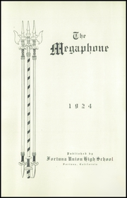 Page 5, 1924 Edition, Fortuna Union High School - Megaphone Yearbook (Fortuna, CA) online yearbook collection