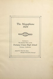 Page 11, 1929 Edition, Fortuna Union High School - Megaphone Yearbook (Fortuna, CA) online yearbook collection