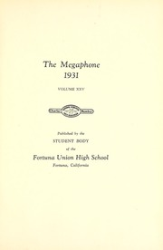 Page 11, 1931 Edition, Fortuna Union High School - Megaphone Yearbook (Fortuna, CA) online yearbook collection