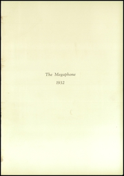 Page 7, 1932 Edition, Fortuna Union High School - Megaphone Yearbook (Fortuna, CA) online yearbook collection
