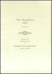 Page 9, 1932 Edition, Fortuna Union High School - Megaphone Yearbook (Fortuna, CA) online yearbook collection