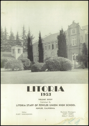 Page 7, 1953 Edition, Fowler High School - Litoria Yearbook (Fowler, CA) online yearbook collection