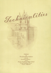 Page 5, 1939 Edition, Fresno Technical High School - Technicalities Yearbook (Fresno, CA) online yearbook collection