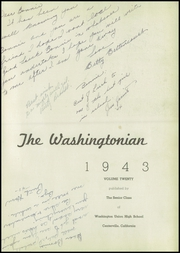 Page 7, 1943 Edition, Washington Union High School - Washingtonian Yearbook (Fresno, CA) online yearbook collection
