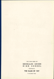 Page 9, 1937 Edition, Gonzales High School - Spartan Yearbook (Gonzales, CA) online yearbook collection