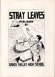 Page 9, 1929 Edition, Grass Valley High School - Stray Leaves Yearbook (Grass Valley, CA) online yearbook collection