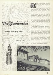 Page 7, 1953 Edition, Jackson High School - Jacksonian Yearbook (Jackson, CA) online yearbook collection
