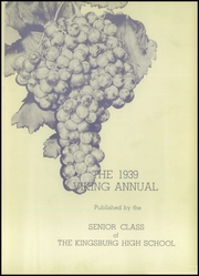 Page 5, 1939 Edition, Kingsburg High School - Viking Yearbook (Kingsburg, CA) online yearbook collection