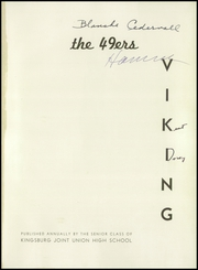 Page 5, 1949 Edition, Kingsburg High School - Viking Yearbook (Kingsburg, CA) online yearbook collection