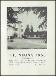 Page 5, 1958 Edition, Kingsburg High School - Viking Yearbook (Kingsburg, CA) online yearbook collection