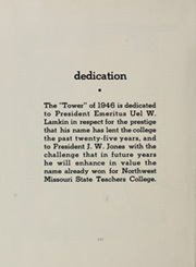 Page 8, 1946 Edition, Northwest Missouri State University - Tower Yearbook (Maryville, MO) online yearbook collection