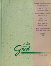 Page 3, 1989 Edition, Northwest Missouri State University - Tower Yearbook (Maryville, MO) online yearbook collection