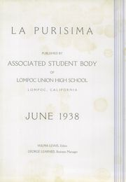 Page 3, 1938 Edition, Lompoc High School - La Purisima Yearbook (Lompoc, CA) online yearbook collection