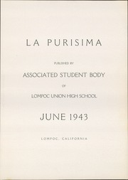 Page 5, 1943 Edition, Lompoc High School - La Purisima Yearbook (Lompoc, CA) online yearbook collection