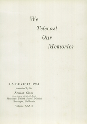 Page 5, 1951 Edition, Maricopa High School - La Revista Yearbook (Maricopa, CA) online yearbook collection