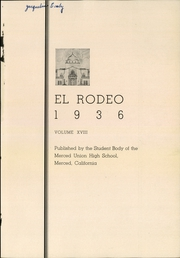 Page 3, 1936 Edition, Merced Union High School - El Rodeo Yearbook (Merced, CA) online yearbook collection